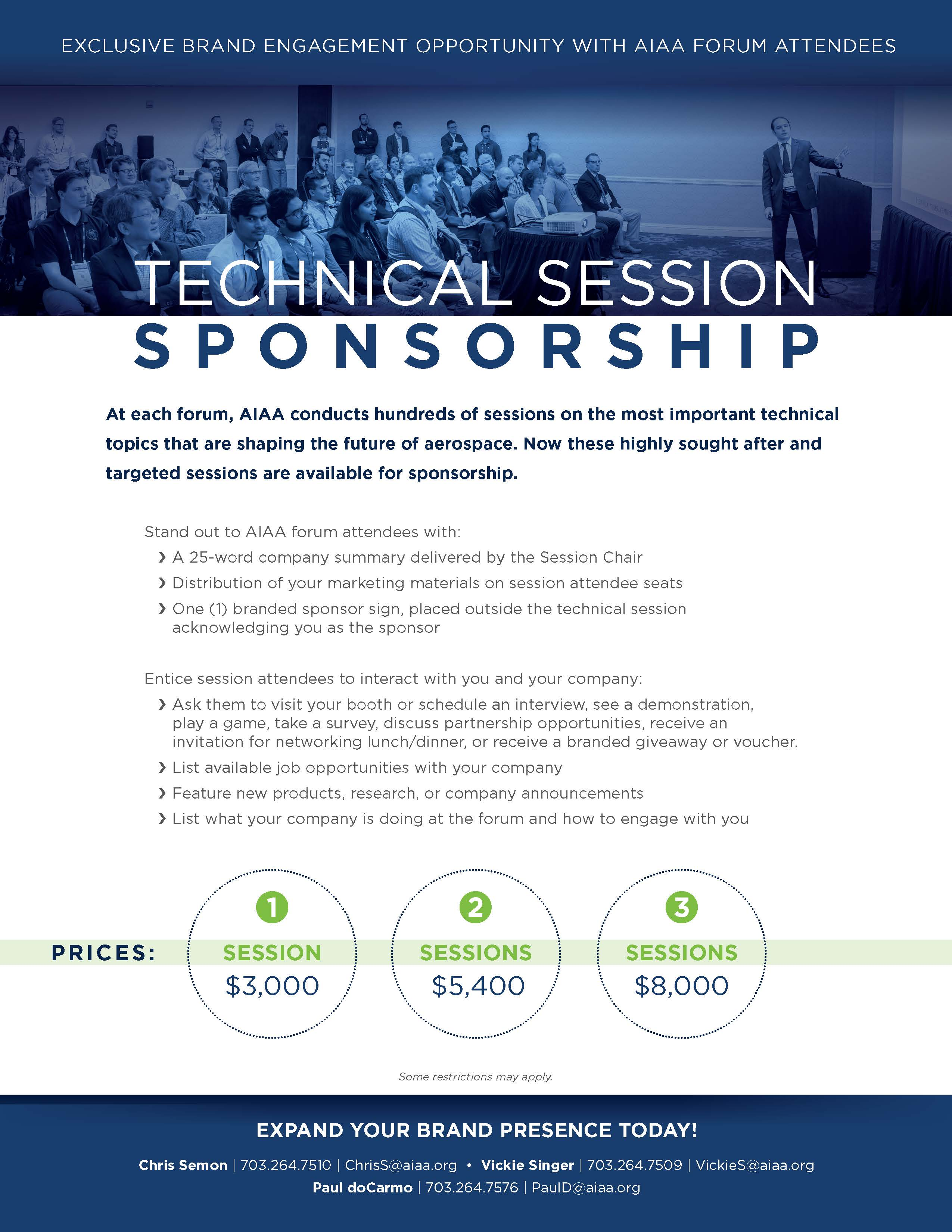 Technical Session Sponsorship Flyer