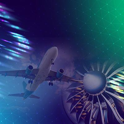 plane and turbine